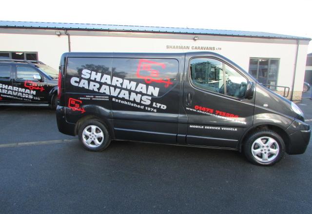 Sharman Caravans mobile servicing van