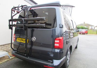 Starlight-Blue-T6-Campervan-bike-rack
